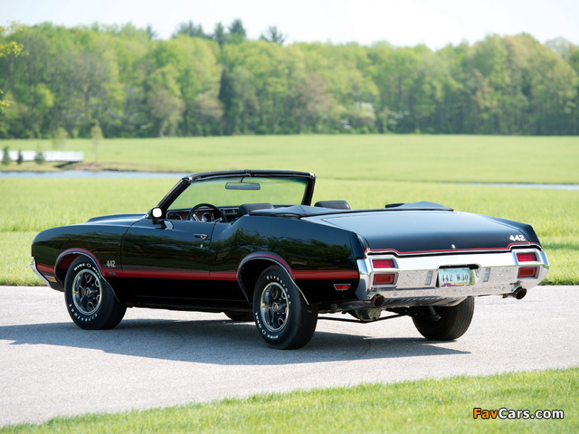 Oldsmobile 442 W-30 Convertible (4467) 1971 wallpapers (640 x 480)