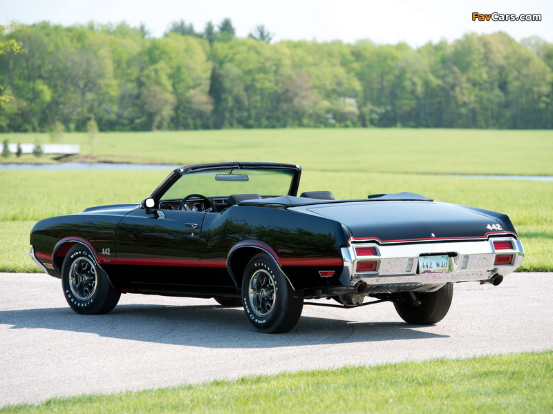 Oldsmobile 442 W-30 Convertible (4467) 1971 wallpapers (800 x 600)