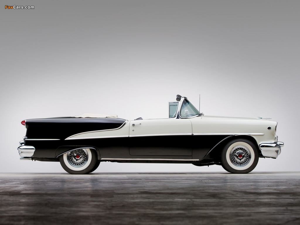 Images of Oldsmobile Super 88 Convertible (3667DTX) 1955 (1024 x 768)