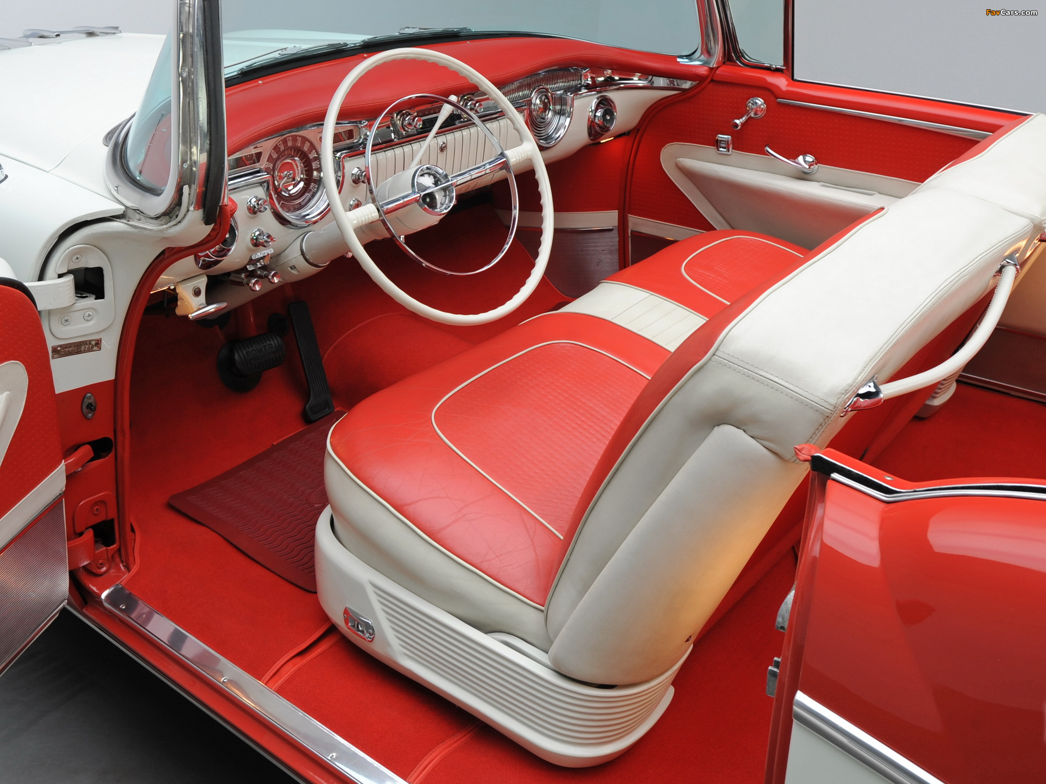 Pictures of Oldsmobile 98 Starfire Convertible (3067DX) 1955 (2048 x 1536)