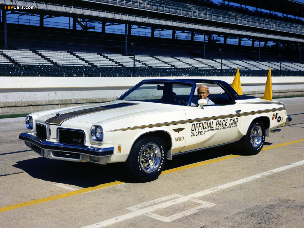 Oldsmobile Cutlass Indy 500 Pace Car 1974 pictures (1024 x 768)