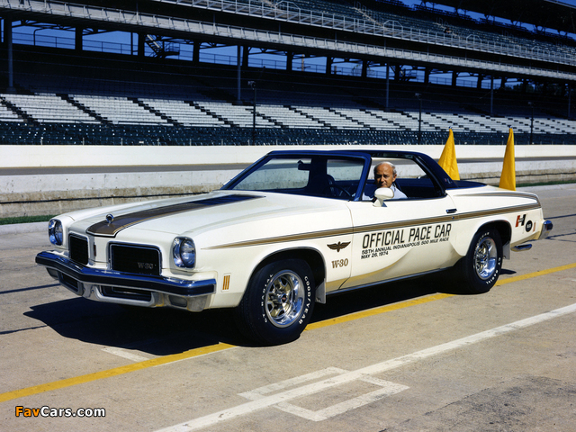 Oldsmobile Cutlass Indy 500 Pace Car 1974 pictures (640 x 480)