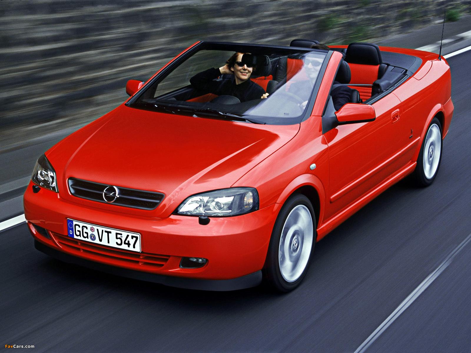 Images of Opel Astra Cabrio Linea Rossa (G) 2003–04 (1600 x 1200)