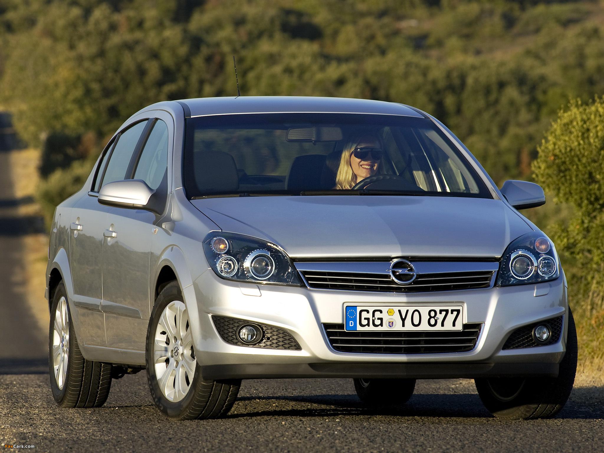 Images of Opel Astra Sedan (H) 2007 (2048 x 1536)