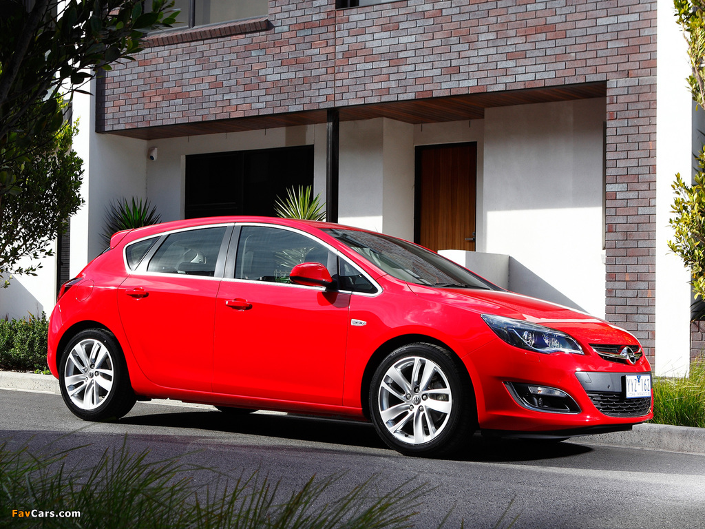 Images of Opel Astra AU-spec (J) 2012–13 (1024 x 768)