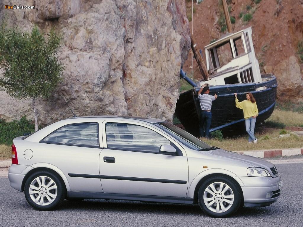 Opel Astra 3-door (G) 1998–2004 pictures (1024 x 768)