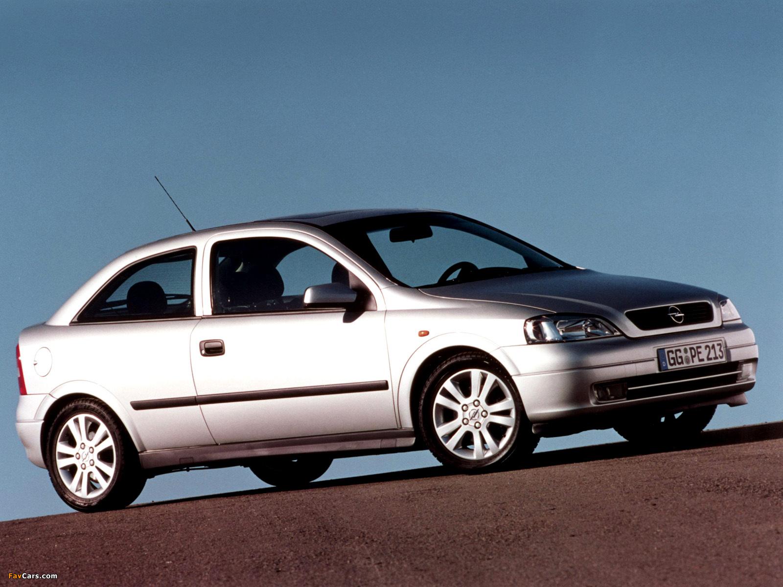 Opel Astra 3-door (G) 1998–2004 wallpapers (1600 x 1200)