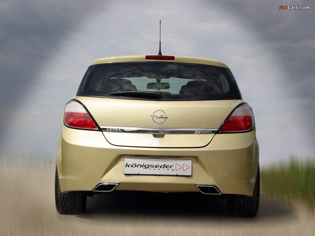 Koenigseder Opel Astra 5-door (H) 2004–09 wallpapers (1024 x 768)