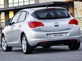 Opel Astra 5-door ZA-spec (J) 2010 photos