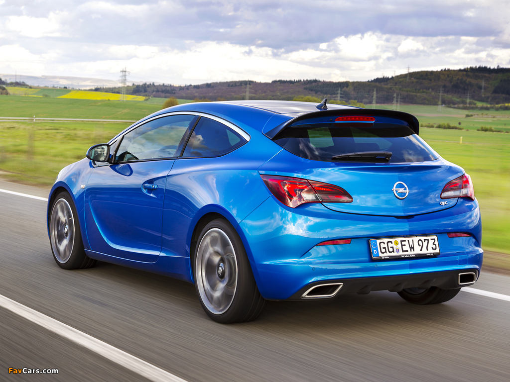 Opel Astra OPC (J) 2011 wallpapers (1024 x 768)