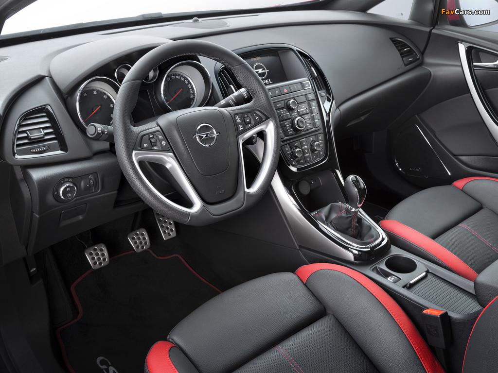 Opel Astra GSI BiTurbo Panoramic (J) 2012 images (1024 x 768)