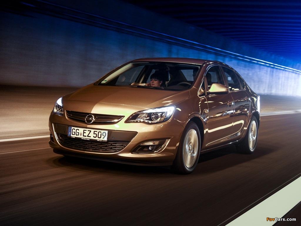 Opel Astra Sedan (J) 2012 pictures (1024 x 768)