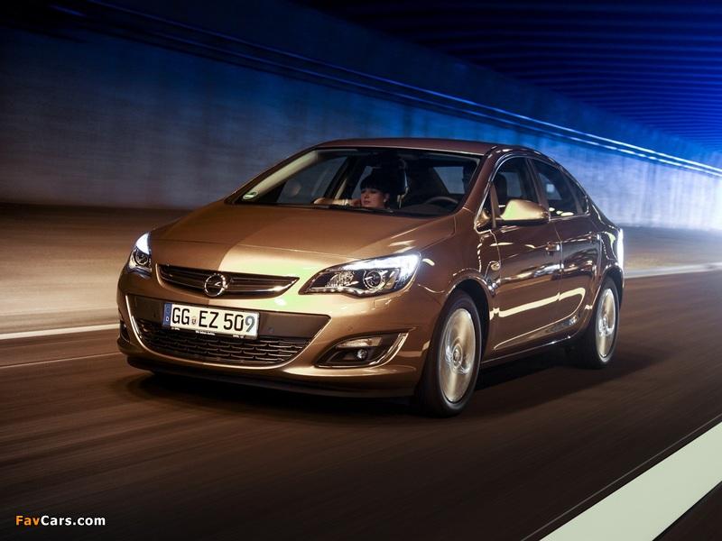 Opel Astra Sedan (J) 2012 pictures (800 x 600)
