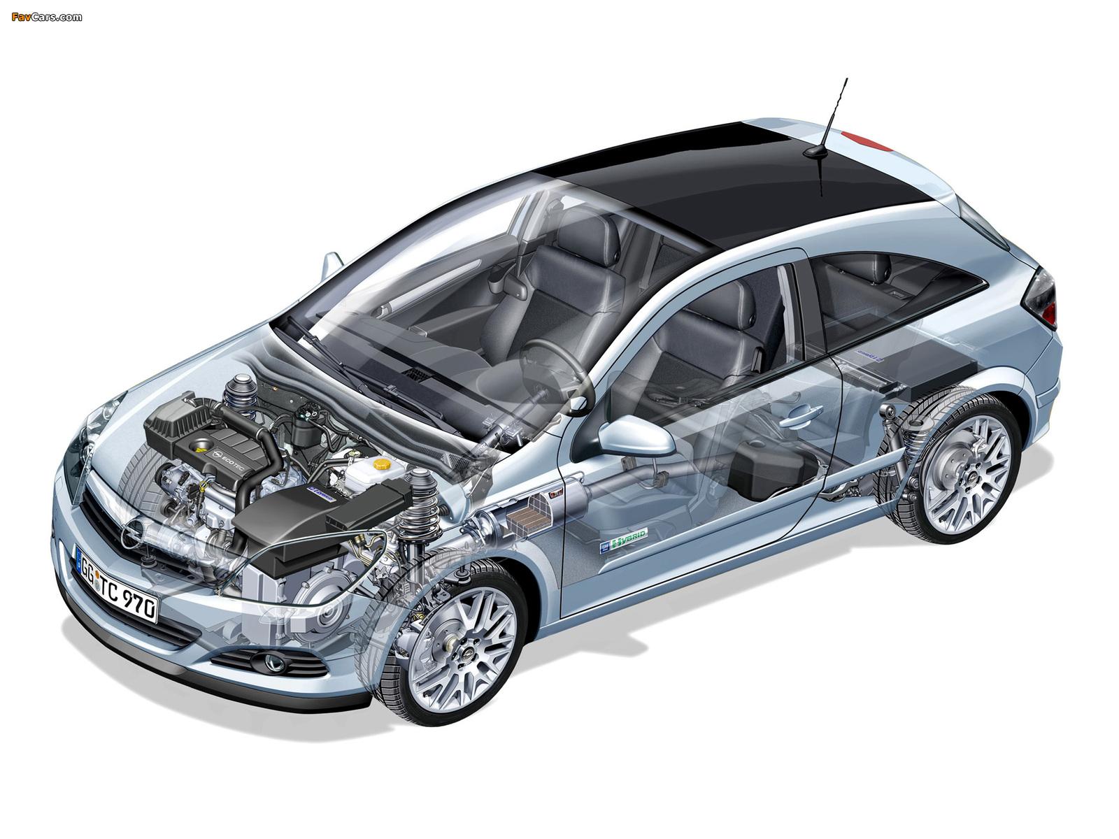 Photos of Opel Astra GTC Hybrid Concept (H) 2005 (1600 x 1200)