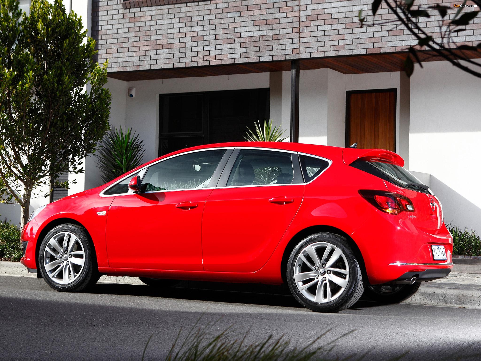 Photos of Opel Astra AU-spec (J) 2012–13 (2048 x 1536)