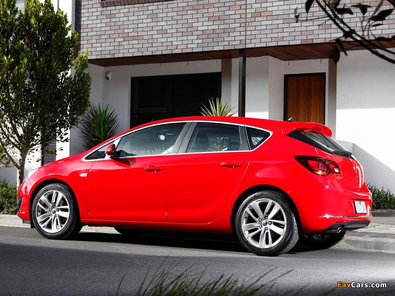 Photos of Opel Astra AU-spec (J) 2012–13 (800 x 600)