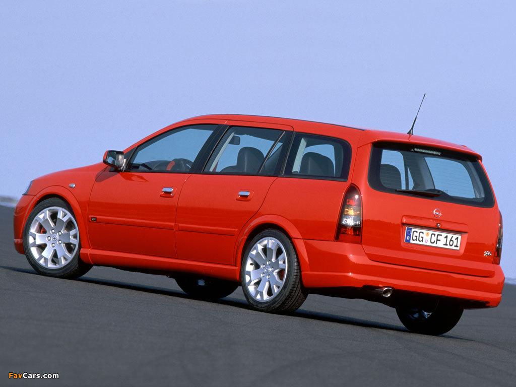 Pictures of Opel Astra OPC Caravan (G) 2002–04 (1024 x 768)