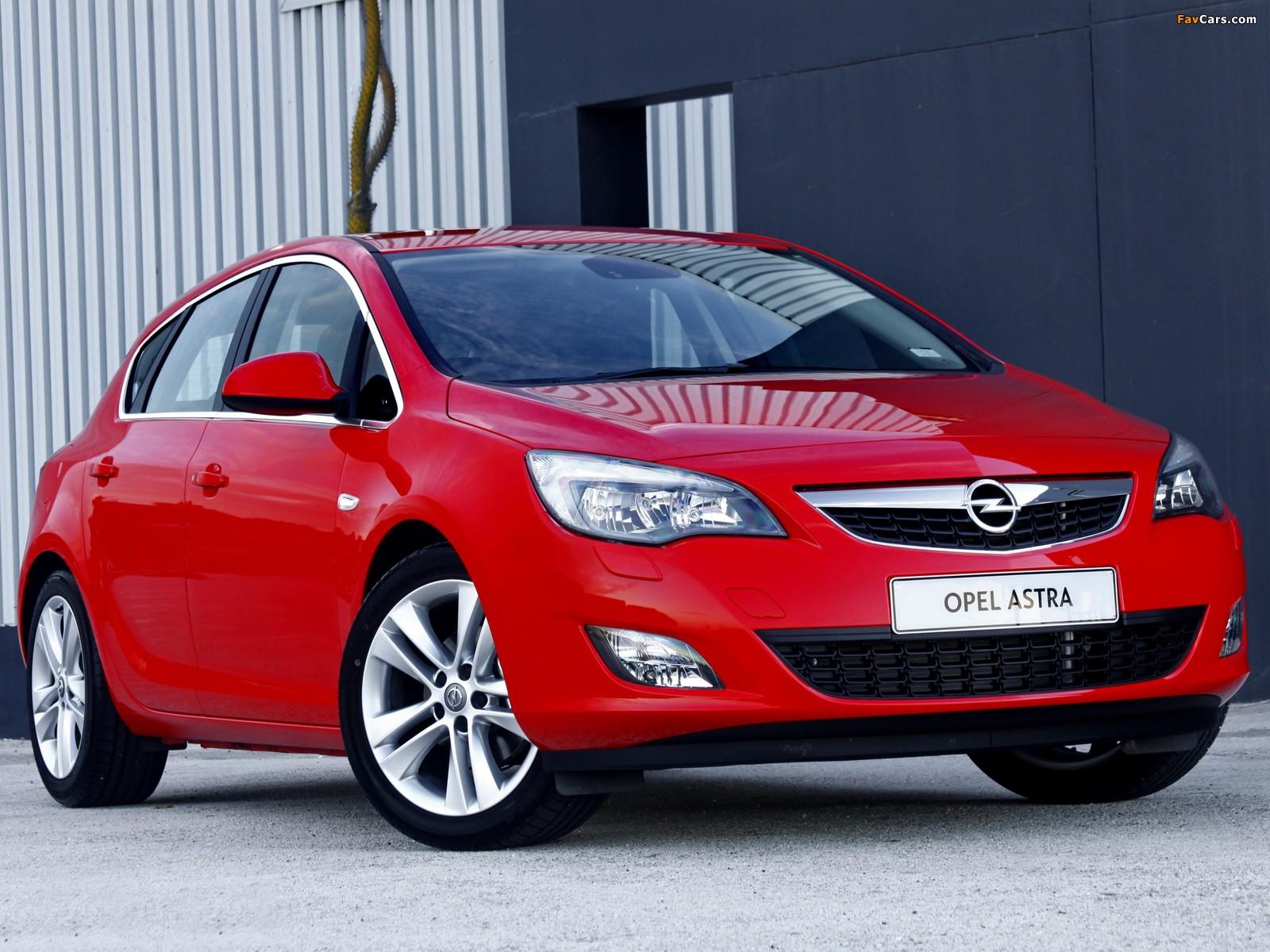 Pictures of Opel Astra 5-door ZA-spec (J) 2010 (1600 x 1200)