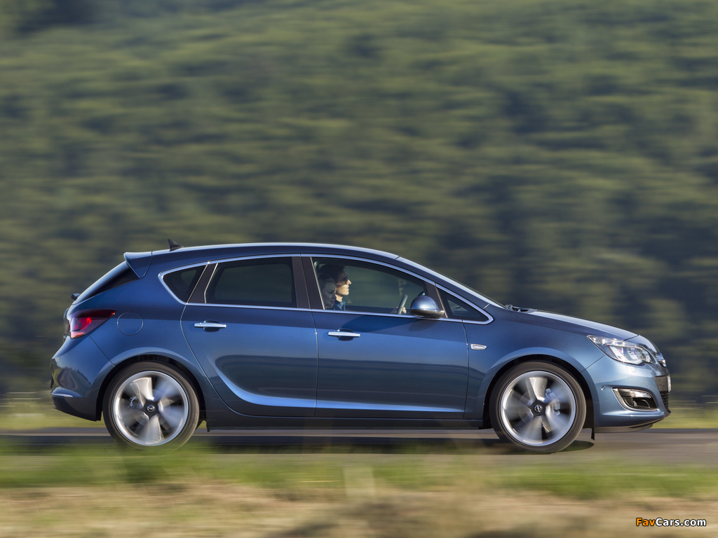 Opel Astra (J) 2012 wallpapers (1024 x 768)