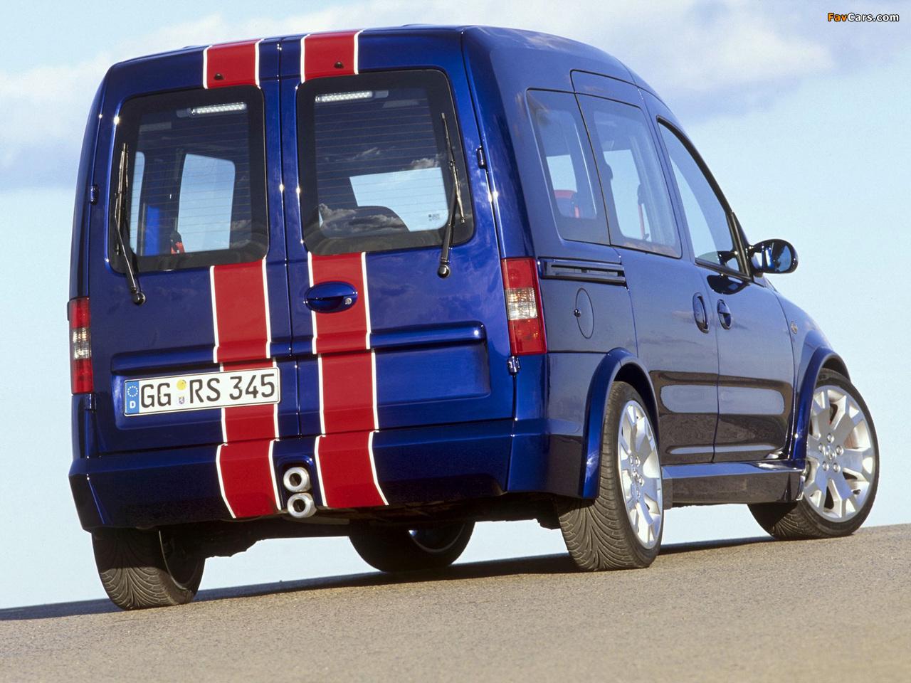 Photos of Opel Combo Eau Rouge Concept (C) 2002 (1280 x 960)