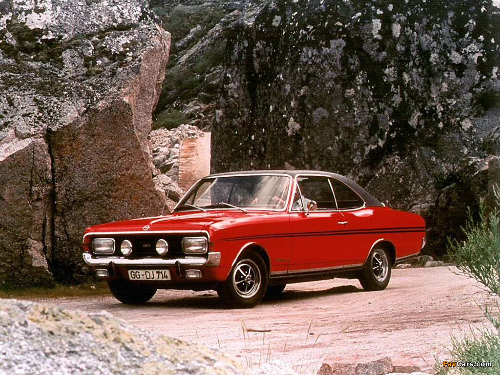 Opel Commodore GS/E Coupe (A) 1967–71 photos (1024 x 768)