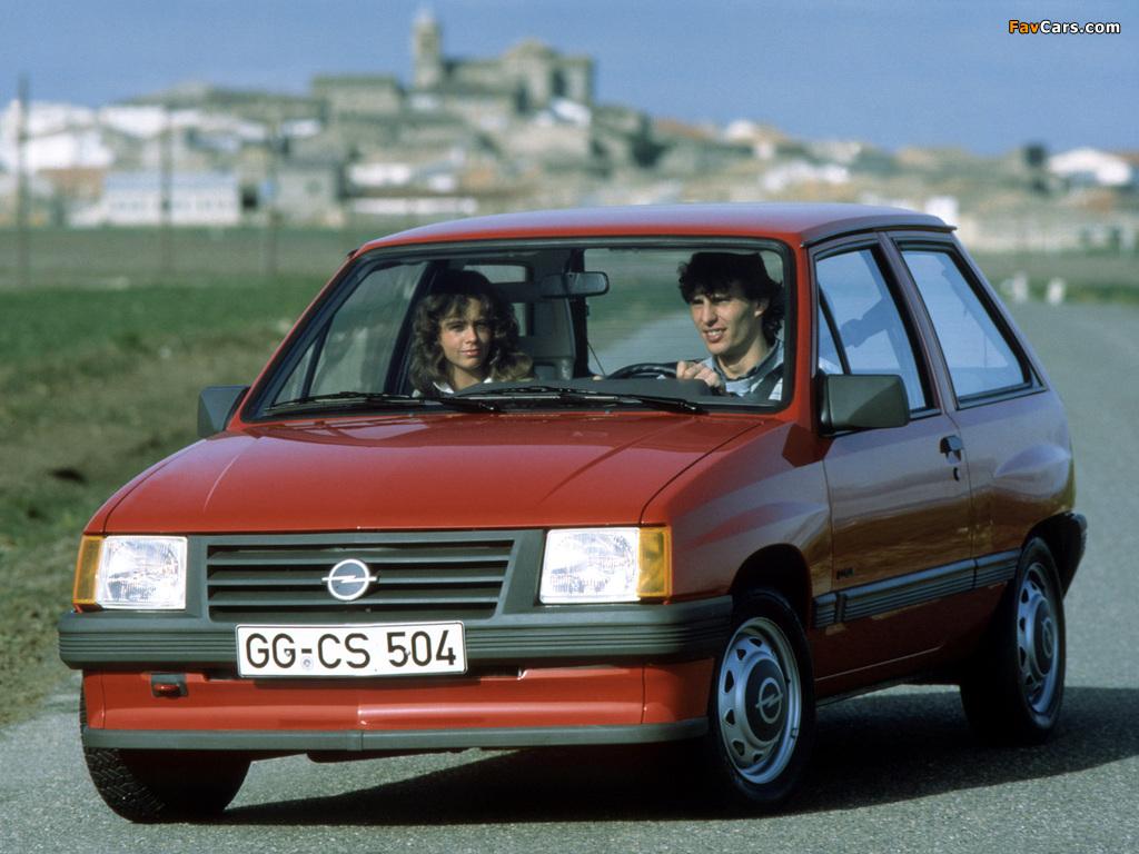 Images of Opel Corsa 3-door (A) 1982–90 (1024 x 768)