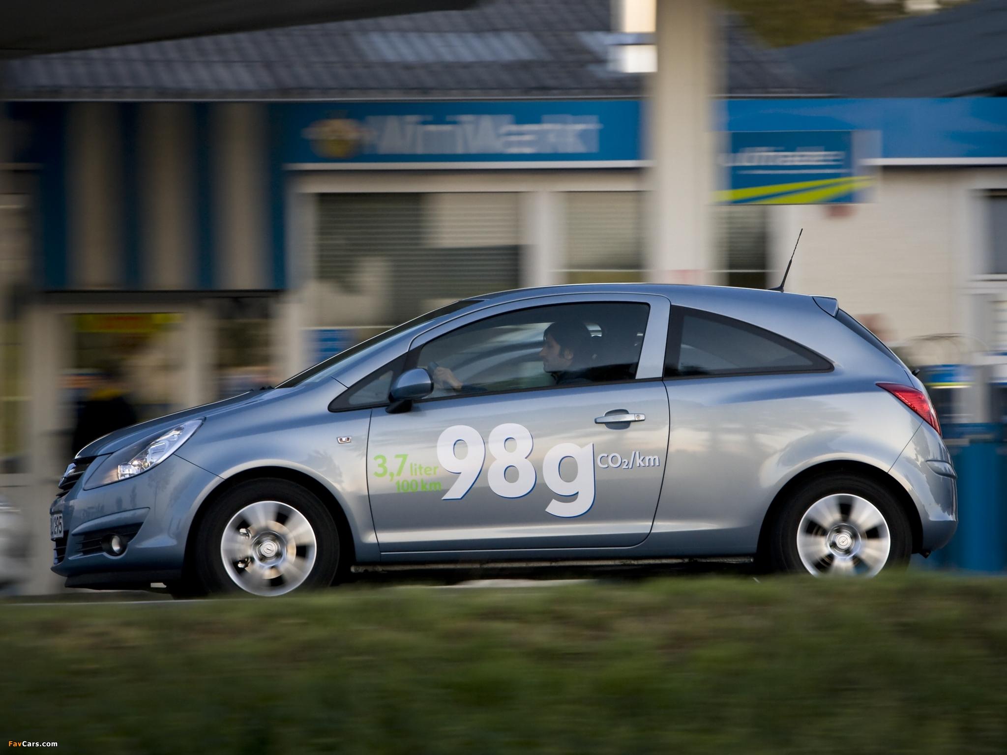 Images of Opel Corsa 3-door ecoFLEX (D) 2009–10 (2048 x 1536)