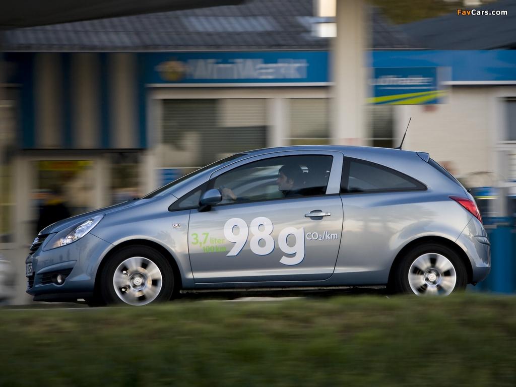 Images of Opel Corsa 3-door ecoFLEX (D) 2009–10 (1024 x 768)