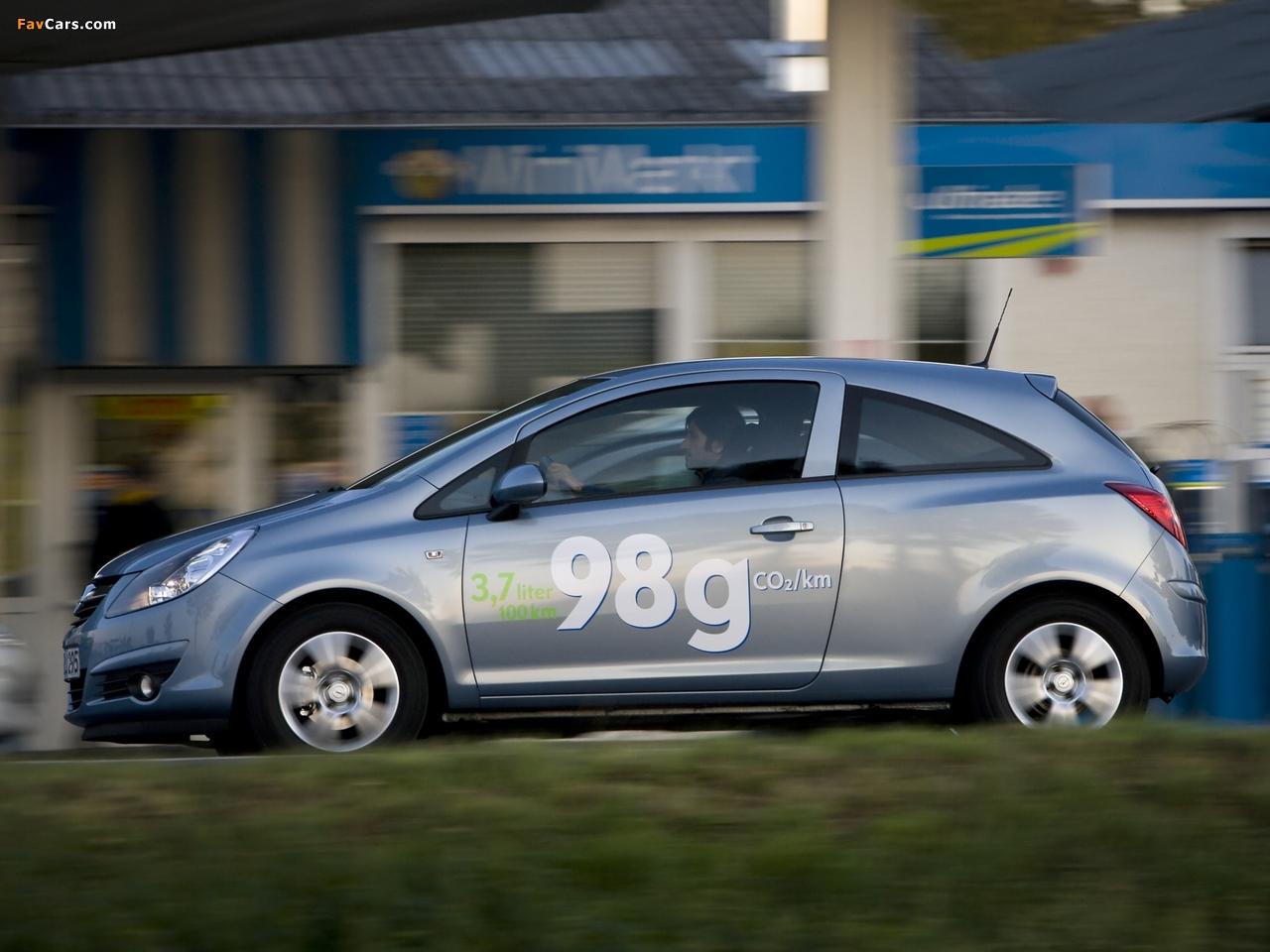 Images of Opel Corsa 3-door ecoFLEX (D) 2009–10 (1280 x 960)