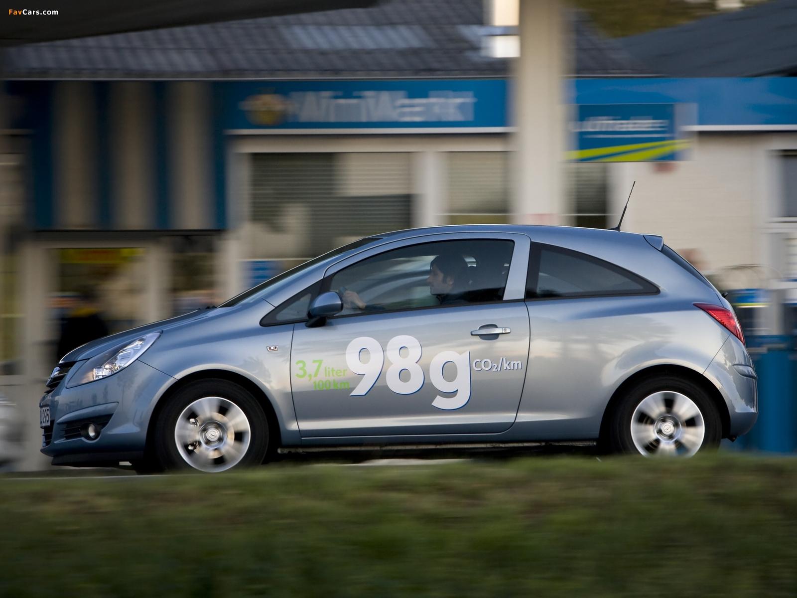 Images of Opel Corsa 3-door ecoFLEX (D) 2009–10 (1600 x 1200)
