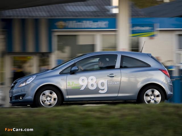 Images of Opel Corsa 3-door ecoFLEX (D) 2009–10 (640 x 480)