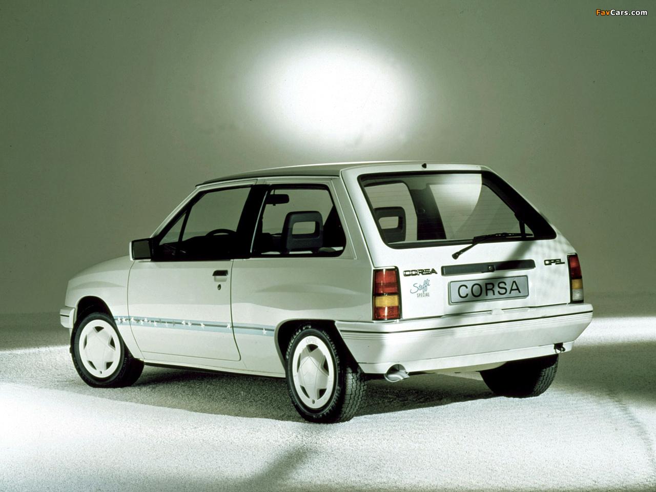 Opel Corsa Steffi Graf Special (A) 1986–89 images (1280 x 960)