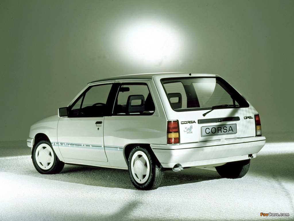Opel Corsa Steffi Graf Special (A) 1986–89 images (1024 x 768)