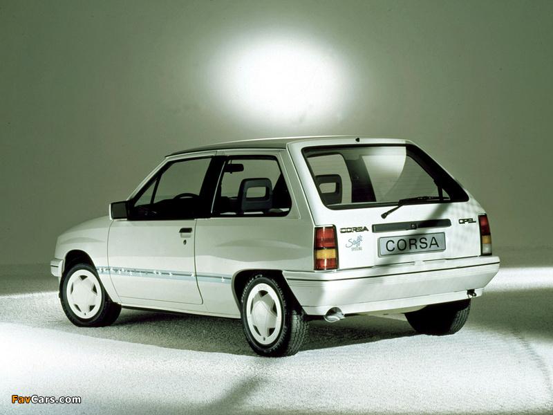 Opel Corsa Steffi Graf Special (A) 1986–89 images (800 x 600)