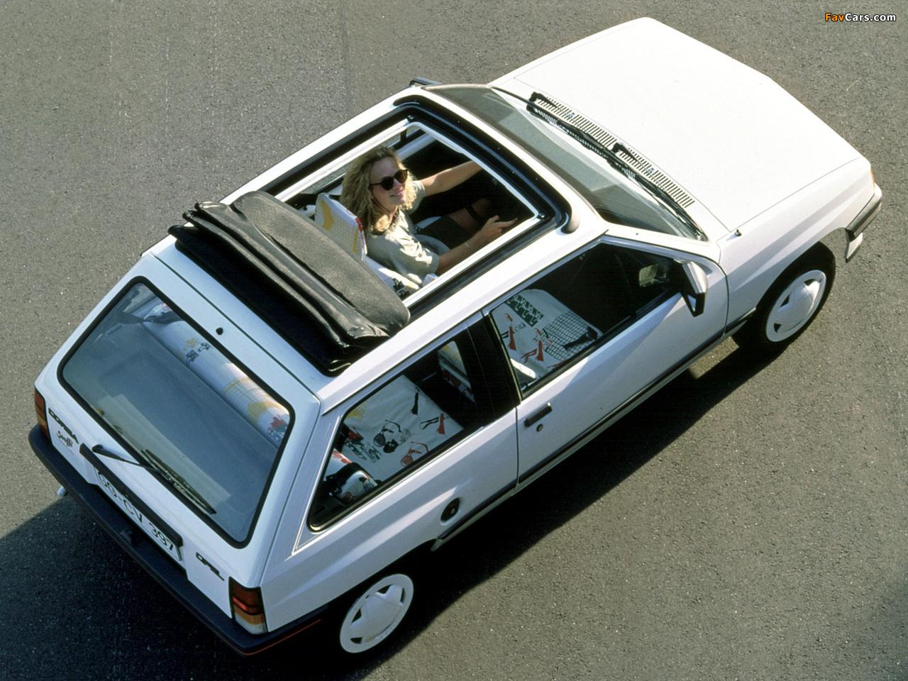Opel Corsa Steffi Graf Special (A) 1986–89 photos (1280 x 960)