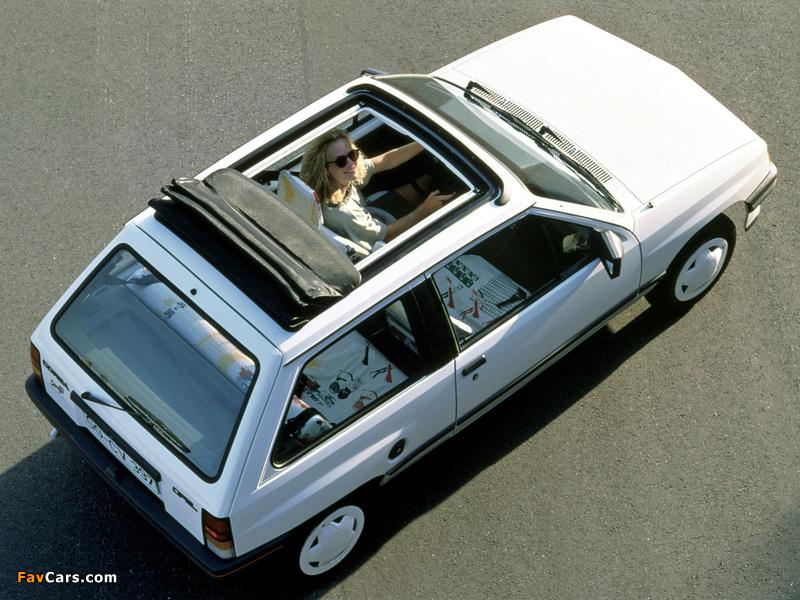 Opel Corsa Steffi Graf Special (A) 1986–89 photos (800 x 600)