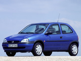 Opel Corsa 3-door (B) 1997–2000 photos