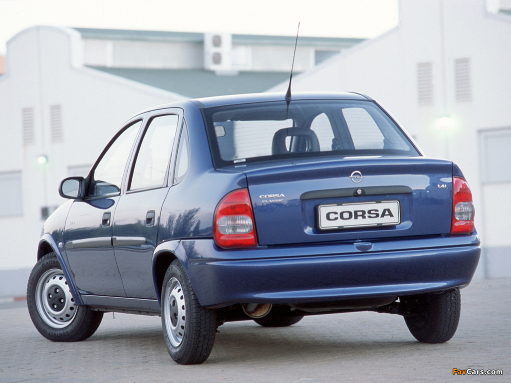 Opel Corsa Classic 1.4i (B) 1998–2002 pictures (1024 x 768)