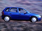 Opel Corsa Swing 5-door (B) 1998–2000 pictures