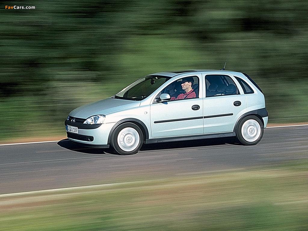 Opel Corsa 5-door (C) 2000–03 photos (1024 x 768)