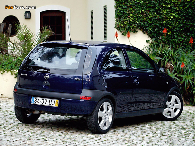 Opel Corsa GSi (C) 2000–06 pictures (640 x 480)