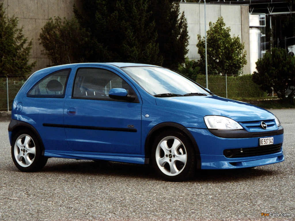 Opel Corsa GSi (C) 2000–06 pictures (1024 x 768)