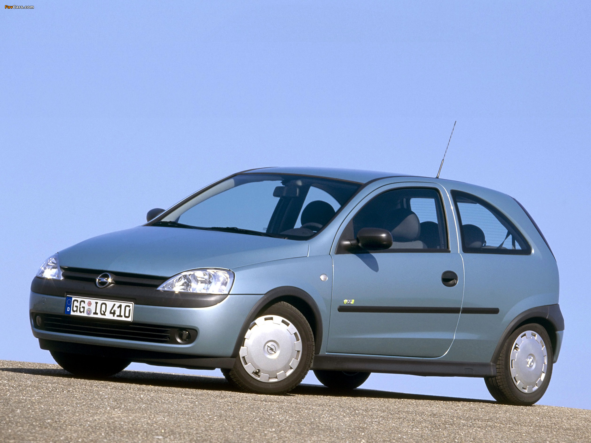 & Opel Corsa 3-door (C) 2000\u201303 wallpapers