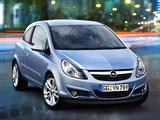 Opel Corsa 3-door (D) 2006–09 pictures