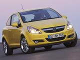 Opel Corsa 3-door (D) 2009–10 wallpapers