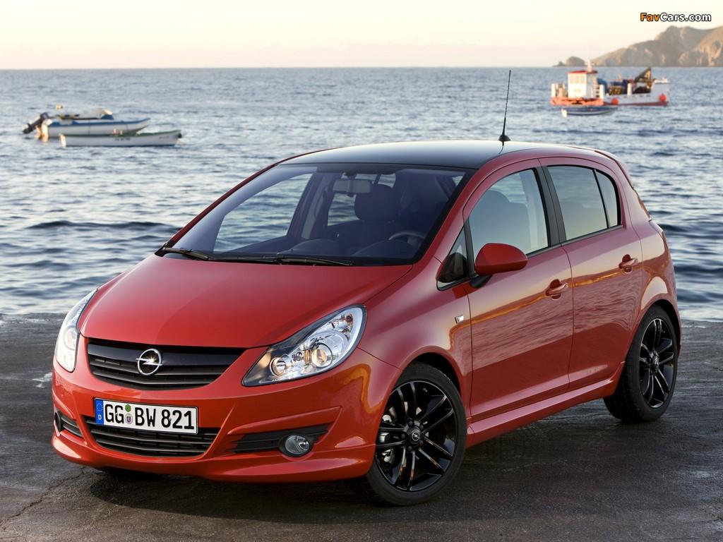 Opel Corsa Color Edition 5-door (D) 2009 wallpapers (1024 x 768)