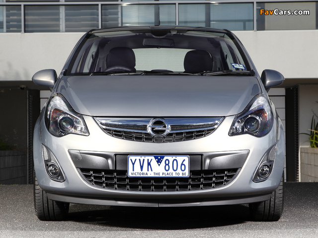 Opel Corsa 5-door AU-spec (D) 2012–13 images (640 x 480)