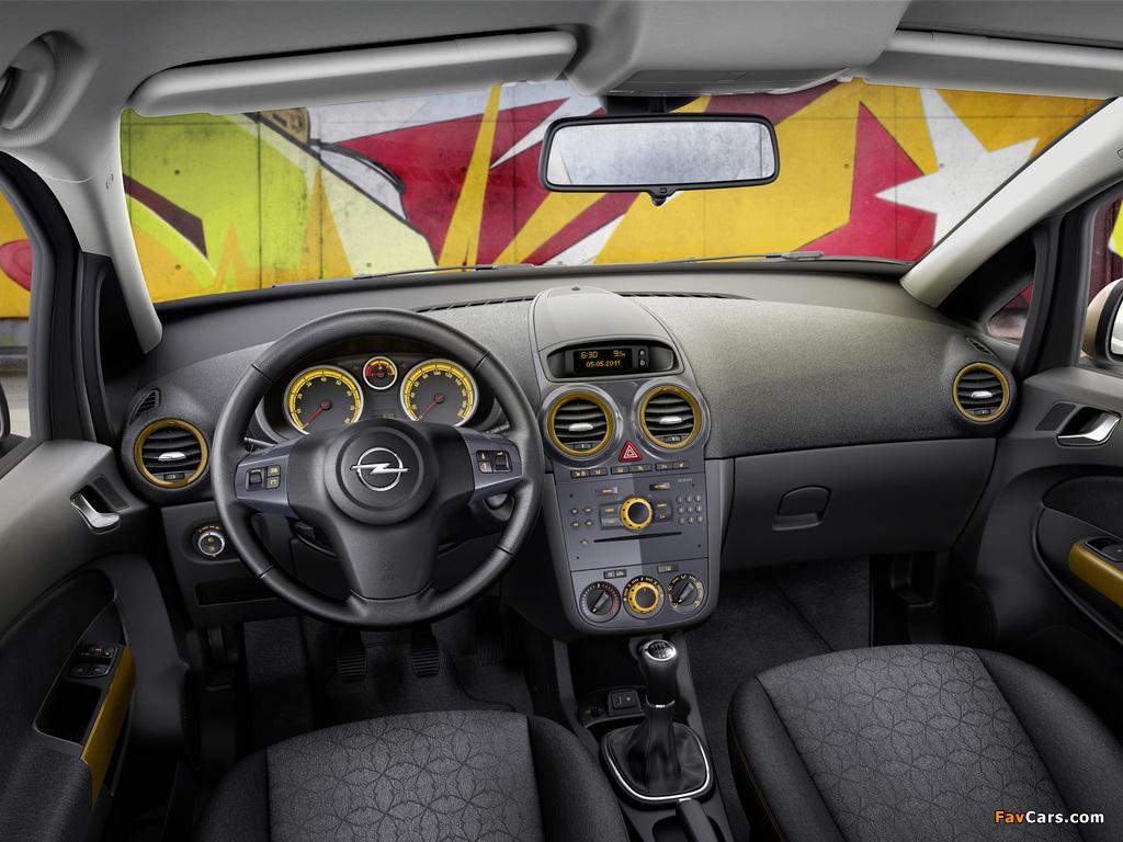 Opel Corsa Kaleidoscope Edition 5-door (D) 2012 wallpapers (1024 x 768)