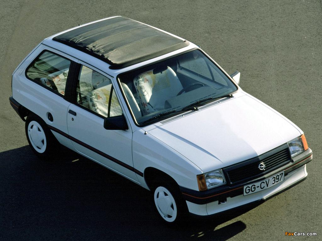 Photos of Opel Corsa Steffi Graf Special (A) 1986–89 (1024 x 768)