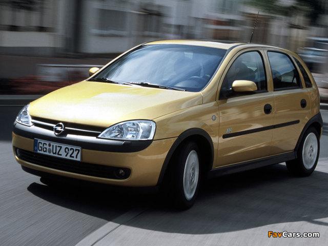 Photos of Opel Corsa 5-door (C) 2000–03 (640 x 480)
